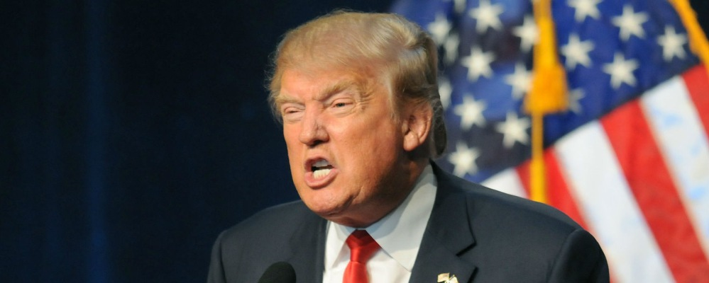Donald Trump, angry; the 2016 GOP nominee.